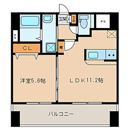 ランドマーク和白 4階1LDKの間取り