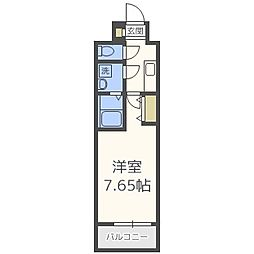 ETC福島 8階1Kの間取り