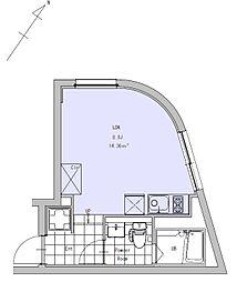 JR中央線 吉祥寺駅 徒歩11分の賃貸マンション 1階ワンルームの間取り