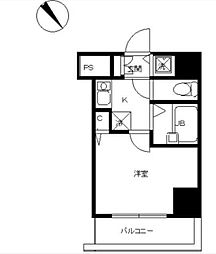 JR埼京線 板橋駅 徒歩10分の賃貸マンション 3階1Kの間取り