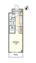 JR山手線 高田馬場駅 徒歩6分の賃貸マンション 1階1Kの間取り