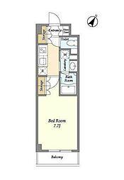 JR山手線 高田馬場駅 徒歩6分の賃貸マンション 3階1Kの間取り