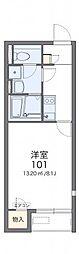 レオネクスト日新福知山 2階1Kの間取り