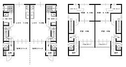 牛田本町貸テラスハウス 2階2LDKの間取り