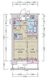 JR大阪環状線 森ノ宮駅 徒歩5分の賃貸マンション 10階1LDKの間取り