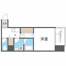 TOYOTOMi STAY Premium梅田西II 2階1Kの間取り