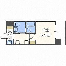 京阪電鉄中之島線 中之島駅 徒歩10分の賃貸マンション 8階1Kの間取り