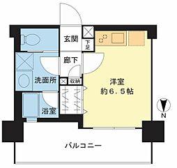 ヴェレーナ横浜反町駅前 4階ワンルームの間取り