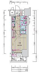プレサンス名古屋幅下 ファビュラス 9階1Kの間取り