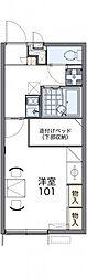 東武日光線 幸手駅 徒歩17分の賃貸アパート 1階1Kの間取り