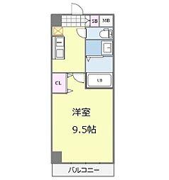 セブンレジデンス日本橋 10階1Kの間取り