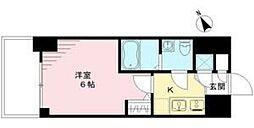 エスリード神戸ハーバークロス 2階1Kの間取り