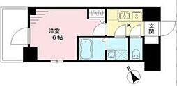 エスリード神戸ハーバークロス 6階1Kの間取り