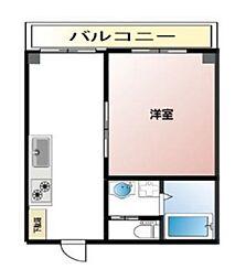 阪急神戸本線 春日野道駅 徒歩5分の賃貸マンション 1階1DKの間取り