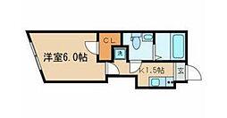 JR総武線 東中野駅 徒歩10分の賃貸マンション 2階1Kの間取り