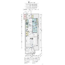 エステムコート梅田・天神橋IV ステーションフロント 4階1Kの間取り