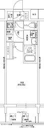 レジデンス大阪福島フォルテ 7階1Kの間取り
