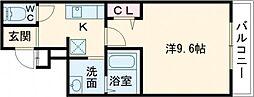 Osaka Metro谷町線 喜連瓜破駅 徒歩7分の賃貸アパート 3階1Kの間取り