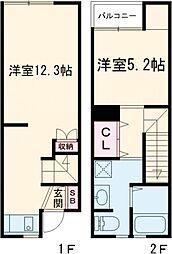 m-door新栄町 2階1LDKの間取り