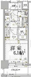 JR山陽本線 兵庫駅 徒歩5分の賃貸マンション 3階1Kの間取り