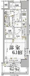 JR山陽本線 兵庫駅 徒歩5分の賃貸マンション 5階1Kの間取り