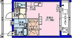 (仮称)瀬頭2丁目マンションII 4階ワンルームの間取り