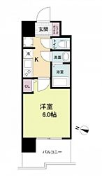 阪神本線 春日野道駅 徒歩6分の賃貸マンション 9階1Kの間取り