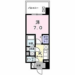 JR大阪環状線 森ノ宮駅 徒歩8分の賃貸マンション 1階1Kの間取り