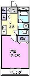 伊勢鉄道 東一身田駅 徒歩3分の賃貸アパート 1階1Kの間取り