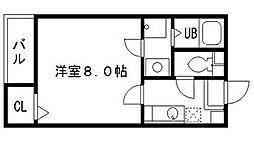 西鉄天神大牟田線 西鉄二日市駅 徒歩3分の賃貸アパート 2階1Kの間取り