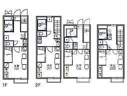 JR中央線 八王子駅 バス20分 左入下車 徒歩6分の賃貸アパート 2階1Kの間取り
