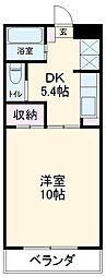ステージ21 1階1DKの間取り