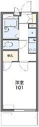 遠州鉄道 新浜松駅 徒歩15分の賃貸マンション 1階1Kの間取り