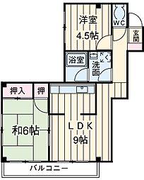 青木ビル 3階2LDKの間取り
