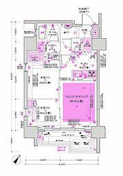 JR京浜東北・根岸線 大井町駅 徒歩3分の賃貸マンション 11階2LDKの間取り