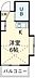 間取り,ワンルーム,面積16.43m2,賃料3.4万円,西武新宿線 新所沢駅 徒歩10分,西武新宿線 航空公園駅 徒歩15分,埼玉県所沢市けやき台1丁目