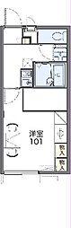 JR武蔵野線 東所沢駅 バス25分 中富南下車 徒歩7分の賃貸アパート 2階1Kの間取り