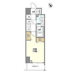 JR山手線 巣鴨駅 徒歩4分の賃貸マンション 8階1Kの間取り