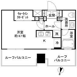 JR総武線 亀戸駅 徒歩3分の賃貸マンション 6階ワンルームの間取り
