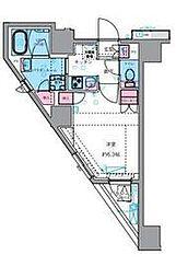 東京メトロ丸ノ内線 四谷三丁目駅 徒歩7分の賃貸マンション 4階1Kの間取り