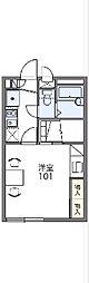 JR山陰本線 亀岡駅 徒歩15分の賃貸アパート 2階1Kの間取り