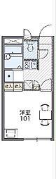 JR両毛線 桐生駅 徒歩14分の賃貸アパート 1階1Kの間取り