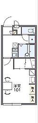 レオパレスプレミール 2階1Kの間取り