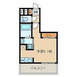 福岡市地下鉄空港線 大濠公園駅 徒歩4分の賃貸マンション 10階ワンルームの間取り