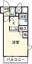 HF国分寺レジデンス 11階1Kの間取り