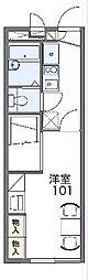 京王線 多磨霊園駅 徒歩16分の賃貸アパート 2階1Kの間取り