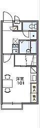 名鉄瀬戸線 尾張瀬戸駅 バス18分 山の田下車 徒歩14分の賃貸アパート 1階1Kの間取り