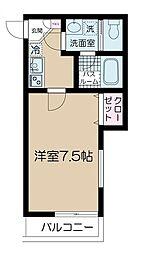 京王井の頭線 神泉駅 徒歩7分の賃貸マンション 3階1Kの間取り