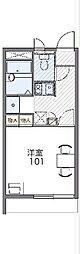 JR上越線 渋川駅 バス28分 荒牧新道下車 徒歩6分の賃貸マンション 2階1Kの間取り