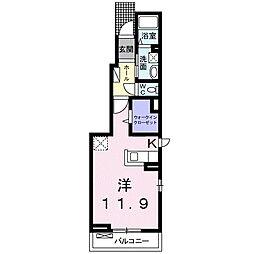 秩父鉄道 東行田駅 徒歩25分の賃貸アパート 1階1Kの間取り